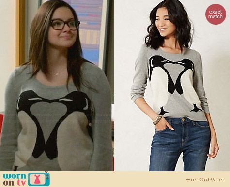 Anthropologie Emporer Kiss Sweater worn by Ariel Winter on Modern Family