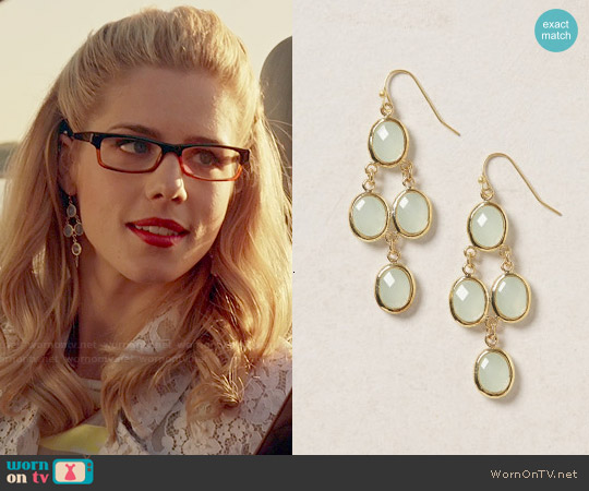 Anthropologie Empress Drops worn by Felicity Smoak on Arrow