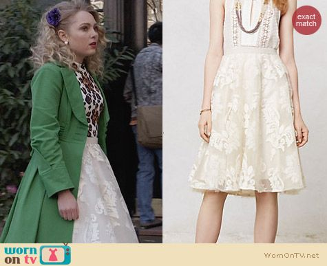 Anthropologie Emuline Tulle Skirt worn by Carrie Bradshaw on The Carrie Diaries