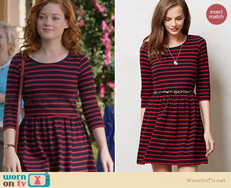 Anthropologie Evie Day Dress worn by Jane Levy on Suburgatory