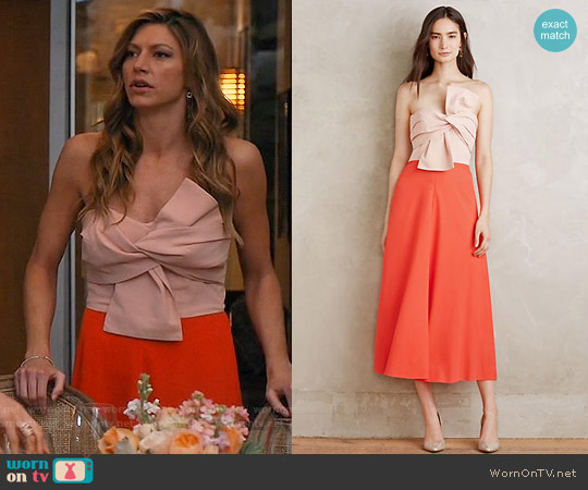 Anthropologie Fara Bow Dress worn by Jes Macallan on Mistresses