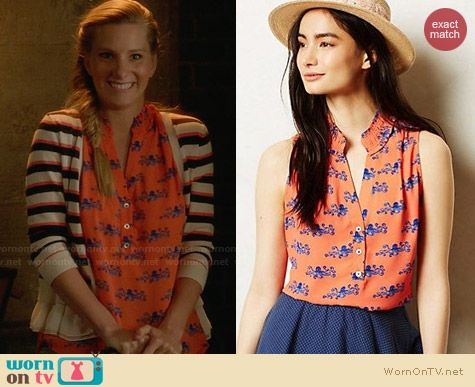 Anthropologie Fitz Tank worn by Heather Morris on Glee