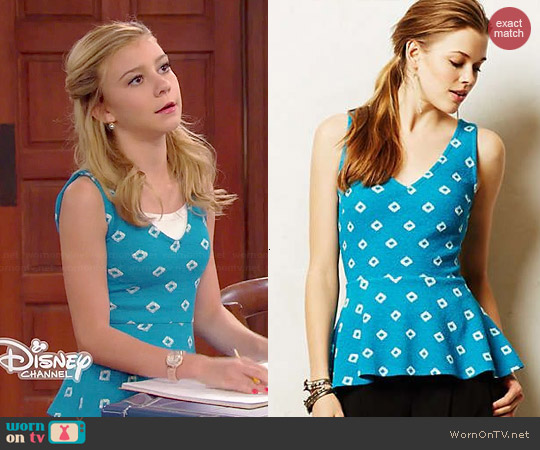 Anthropologie Flynn Peplum Tank worn by G Hannelius on Dog with a Blog