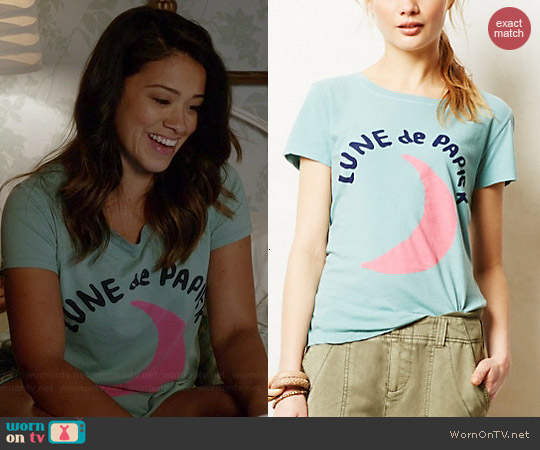 Anthropologie Francophile Tee worn by Gina Rodriguez on Jane the Virgin