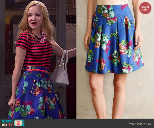 Anthropologie Garden Days Skirt worn by Dove Cameron on Liv & Maddie