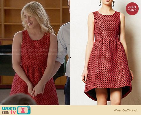 Anthropologie Geojacquard Dress worn by Dianna Agron on Glee