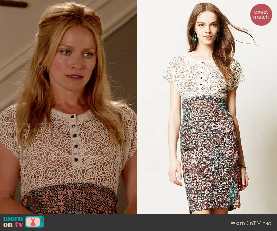 Anthropologie Lace Study Dress worn by Becki Newton on Weird Loners