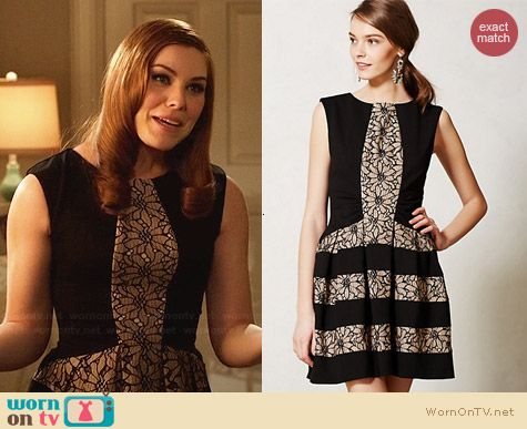 Anthropologie Laced Strata Dress worn by Kaitlyn Black on Hart of Dixie