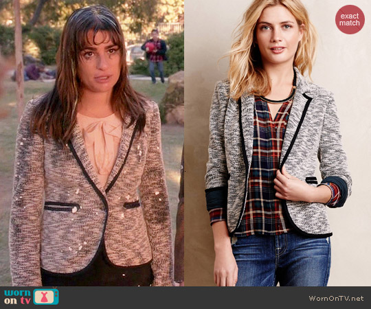 Anthropologie Lakehouse Knit Blazer worn by Lea Michele on Glee