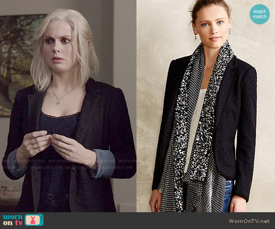 Anthropologie Lakehouse Knit Blazer worn by Rose McIver on iZombie