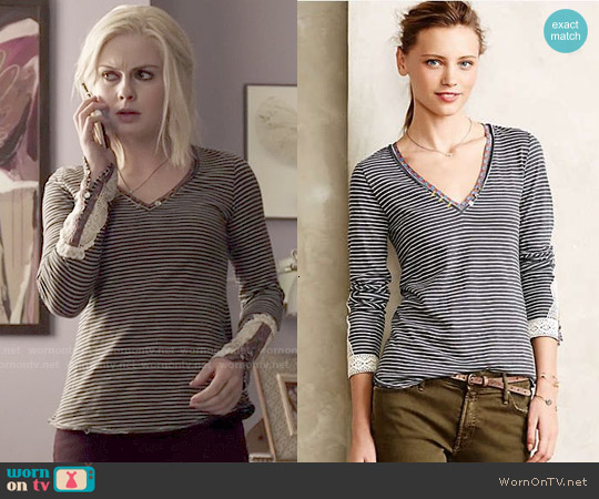 Anthropologie Lata Tee worn by Rose McIver on iZombie