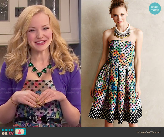 Anthropologie Lavendel Dress by Corey Lynn Calter worn by Dove Cameron on Liv & Maddie