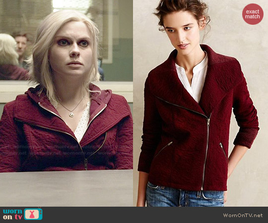 Anthropologie Loden Jacket in Wine worn by Rose McIver on iZombie