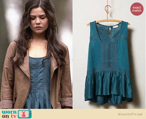 Anthropologie Meadow Rue Lace Peplum Tank worn by Danielle Campbell on The Originals