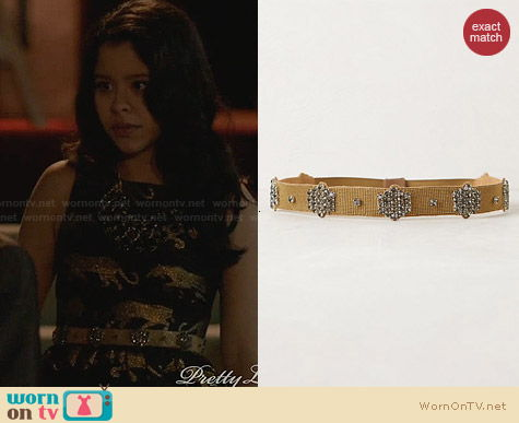 Anthropologie Metalbloom Belt worn by Cierra Ramirez on The Fosters