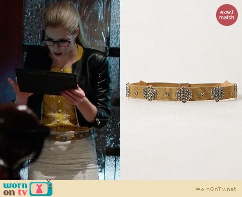 Anthropologie Metalbloom Belt worn by Felicity Smoak on Arrow