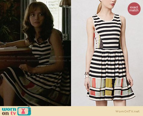 Anthropologie Modern Composition Dress worn by Olivia Cooke on Bates Motel