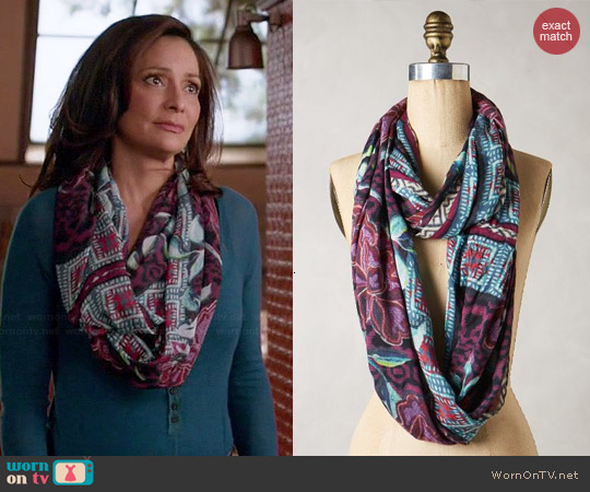 Anthropologie Moonfleet Scarf worn by Constance Marie on Switched at Birth