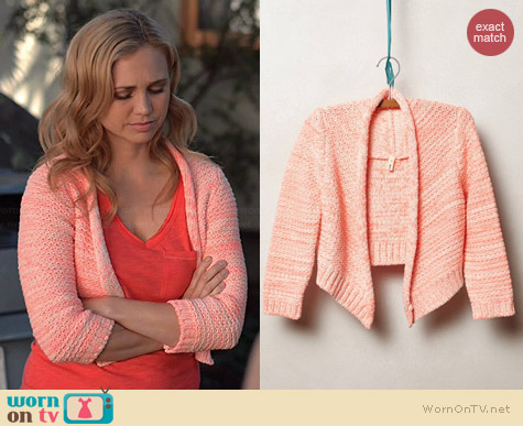 Anthropologie Marled Neon Bolero worn by Fiona Gubelmann on Wilfred