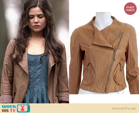 Anthropologie Mysa Leather Jacket worn by Danielle Campbell on The Originals