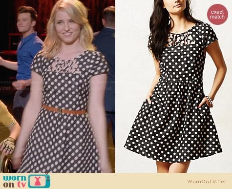 Anthropologie Nikola Dress worn by Dianna Agron on Glee