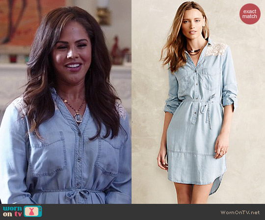 Anthropologie Novela Shirtdress worn by Lenora Crichlow on A to Z