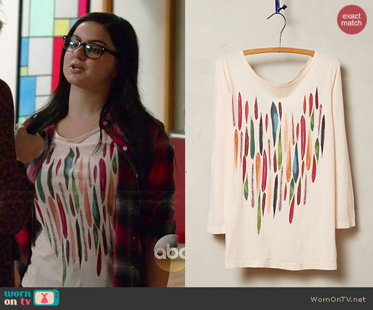 Anthropologie Painterly Tee worn by Ariel Winter on Modern Family