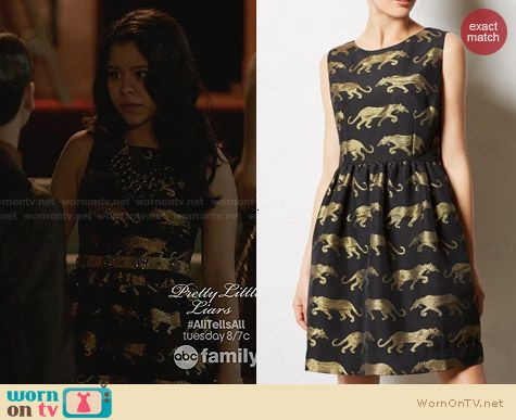 Anthropologie Panthere Dress worn by Cierra Ramirez on The Fosters