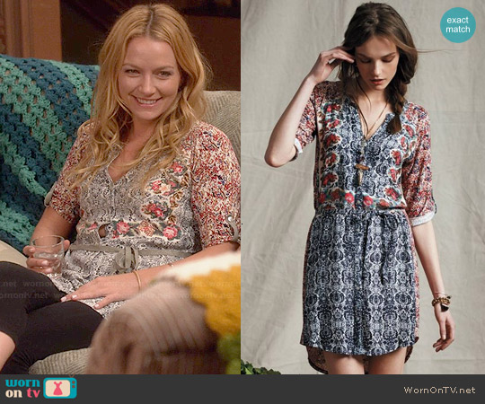 Anthropologie Perenne Shirtdress worn by Becki Newton on Weird Loners