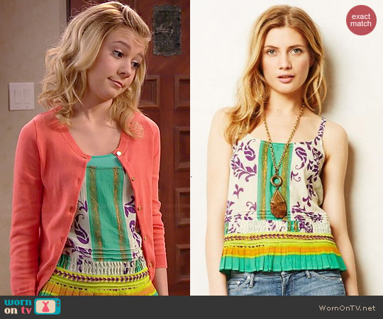Anthropologie Ponderosa tank worn by G. Hannelius on Dog with a Blog