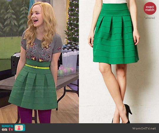 Anthropologie Ponte Bell Skirt worn by Dove Cameron on Liv & Maddie