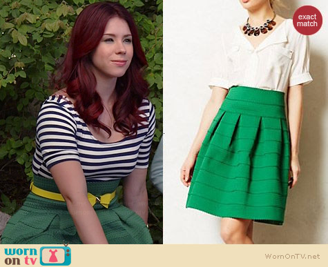 Anthropologie Ponte Bell Skirt worn by Jillian Rose Reed on Awkward