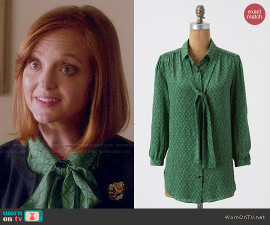 Anthropologie Precious Particulars Blouse worn by Jayma Mays on Glee