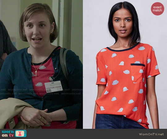 Anthropologie Printmaker Blouse worn by Lena Dunham on Girls