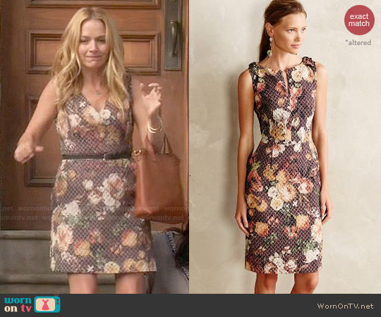 Anthropologie Quilted Tema Dress worn by Becki Newton on Weird Loners