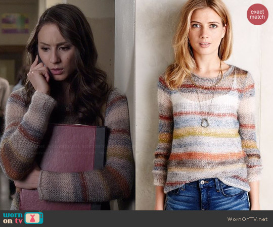 Anthropologie Raya Pullover worn by Troian Bellisario on PLL