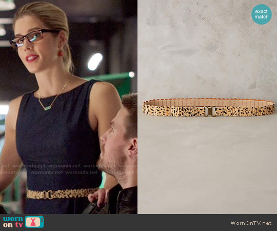 Anthropologie Recitation Calf Hair Belt worn by Felicity Smoak on Arrow