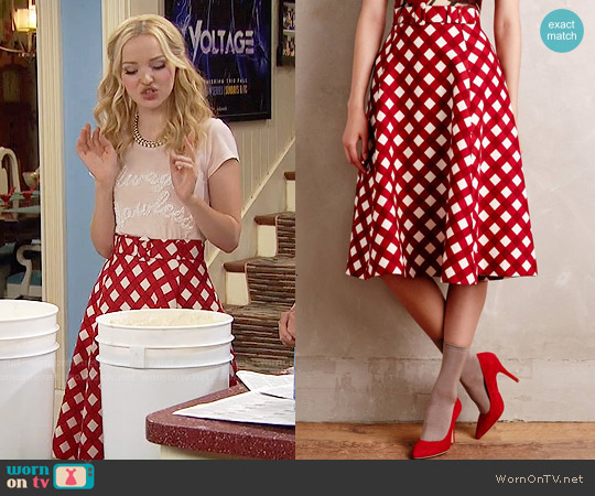Anthropologie Checkered Midi Skirt worn by Liv Rooney on Liv & Maddie