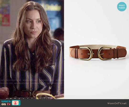 Anthropologie Reflected Buckle belt worn by Spencer Hastings on PLL