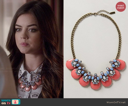 Anthropologie x Bauble Bar Seastone Necklace worn by Lucy Hale on PLL