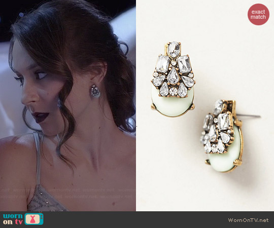 Anthropologie x Bauble Bar Seastone Earrings worn by Troian Bellisario on PLL