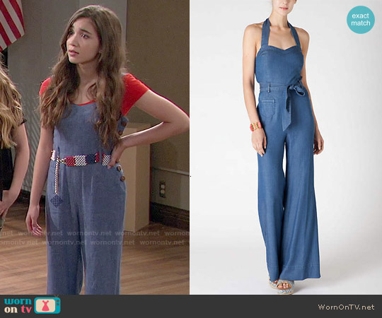 Anthropologie Sharlene Halter Jumpsuit worn by Rowan Blanchard on Girl Meets World