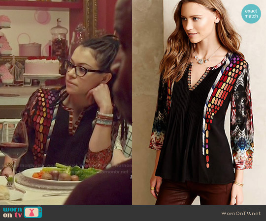 Anthropologie Spectral Peasant top worn by Tatiana Maslany on Orphan Black