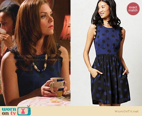 Anthropologie Split Dots Dress worn by Kaitlyn Black on Hart of Dixie
