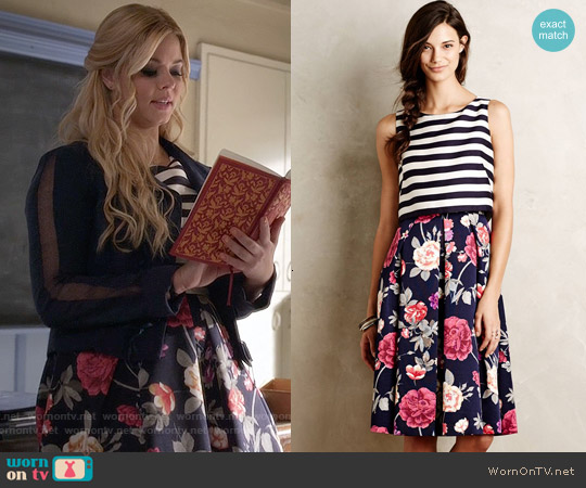 Anthropologie Split-Print Dress worn by Sasha Pieterse on PLL