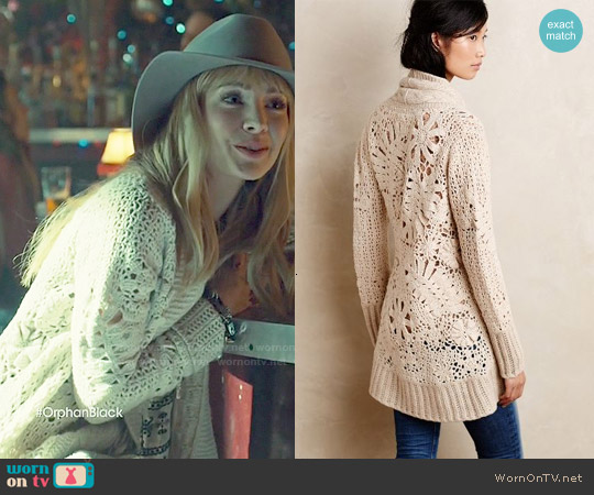 Anthropologie Handknit Star-Stitch Cardigan worn by Ksenia Solo on Orphan Black