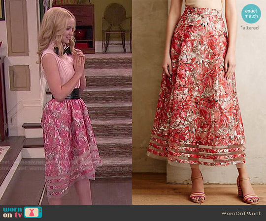 Anthropologie Strawberry Hill Skirt worn by Dove Cameron on Liv & Maddie