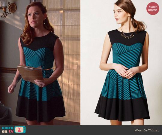 Anthropologie Stripe Swing Dress worn by Kaitlyn Black on Hart of Dixie