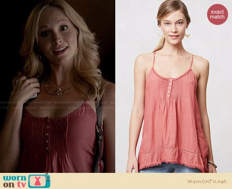 Anthropologie Tarim Swing Tank worn by Candice Accola on The Vampire Diaries