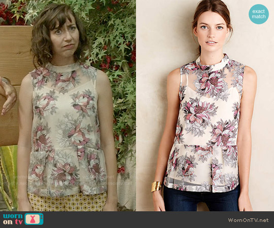 Anthropologie Terrace Swing Tank worn by Carol Pilbasian on Last Man On Earth